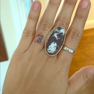 Sterling white buffalo turquoise ring